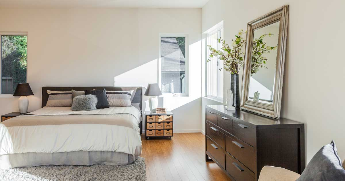 Staging your bedroom to sell your home.