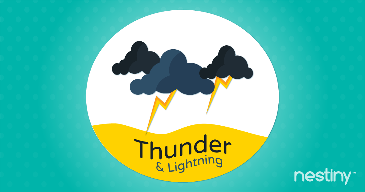 Prepare home for a thunder and lightning storms.