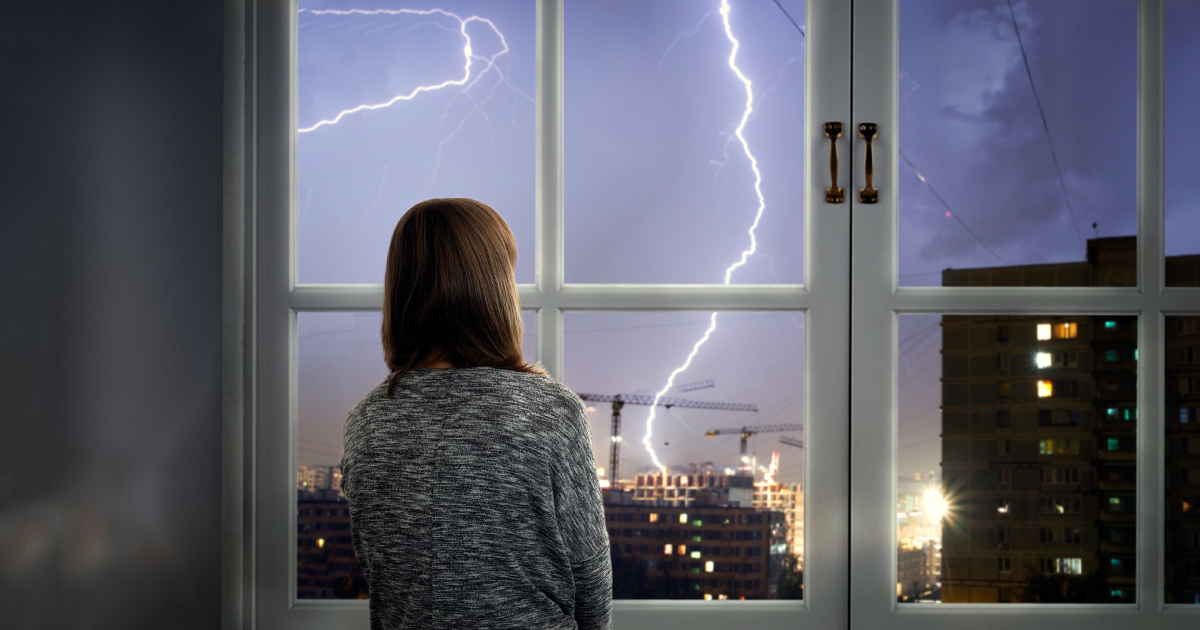 Preparing your home for a thunderstorm.