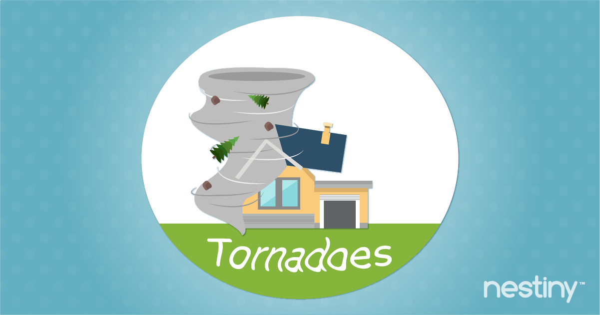 Prepare home for a tornado.