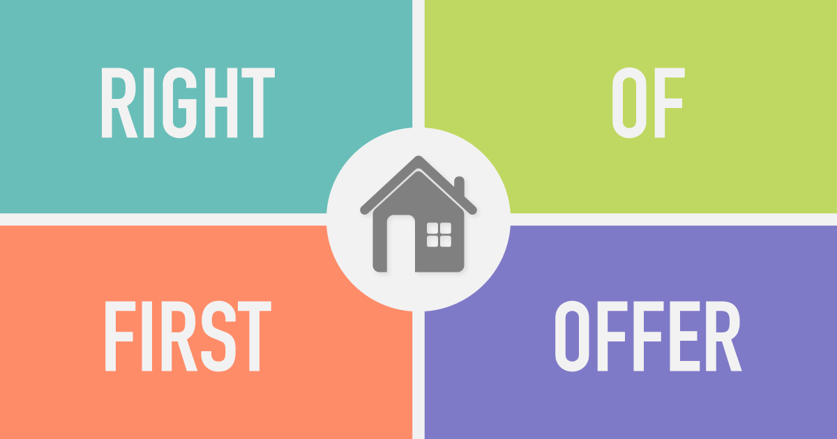 Right of First Offer to Buy a Home
