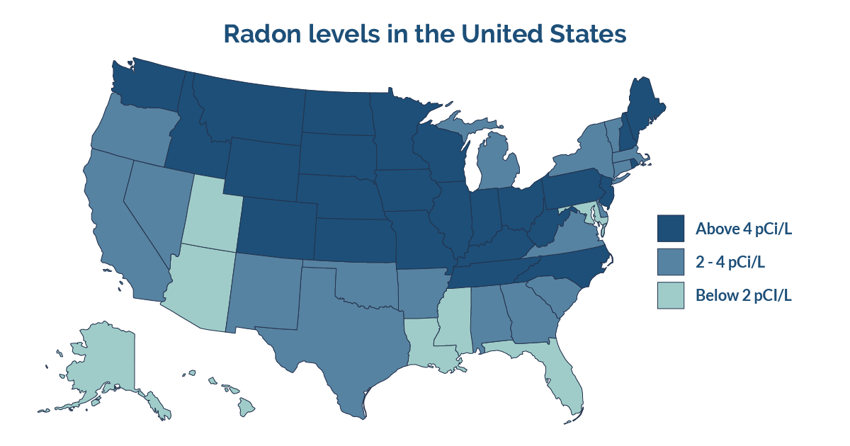 United States radon levels
