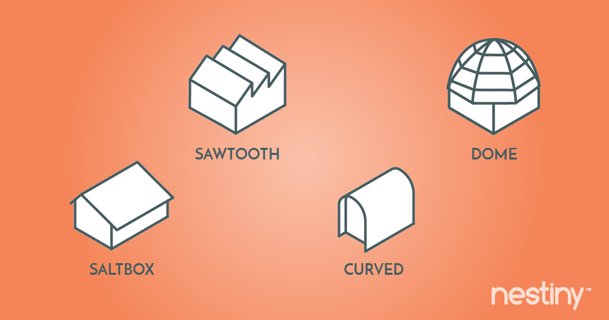 Compare styles of roofs