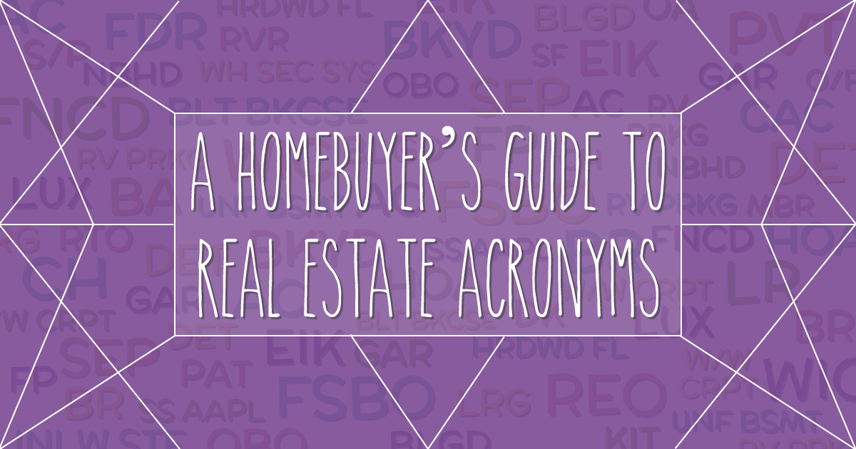 Real Estate Abbreviations and Acronyms